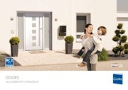 Aluminium front doors - stylish, secure and thermally efficient