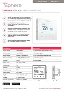 Programmable Control Thermostat (Wireless) - ThermoSphere