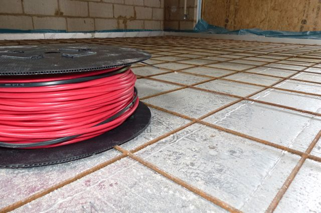 Heat Mat Red 6 mm In-Screed Cable