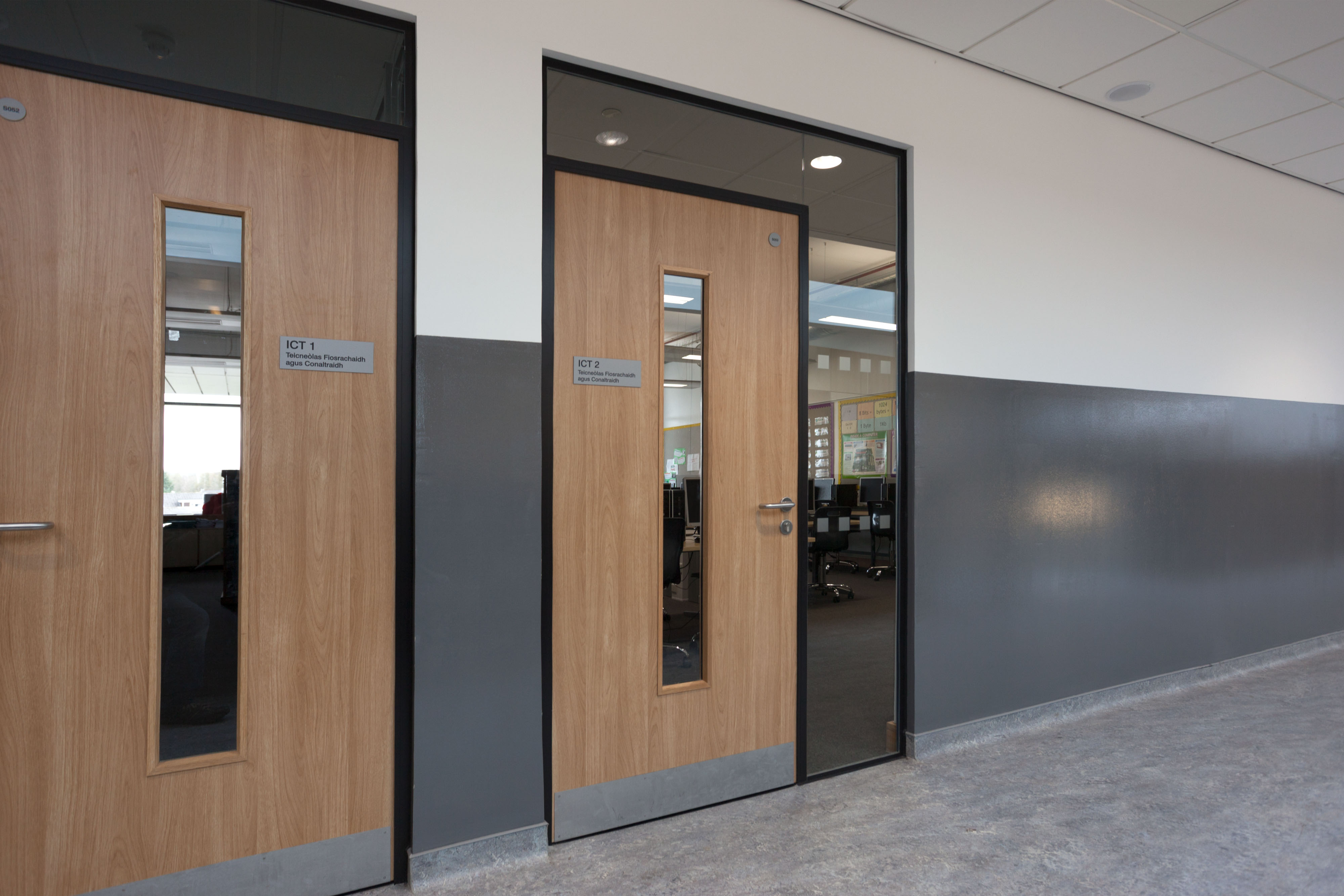Integra Veneered Door with Glazed Screen