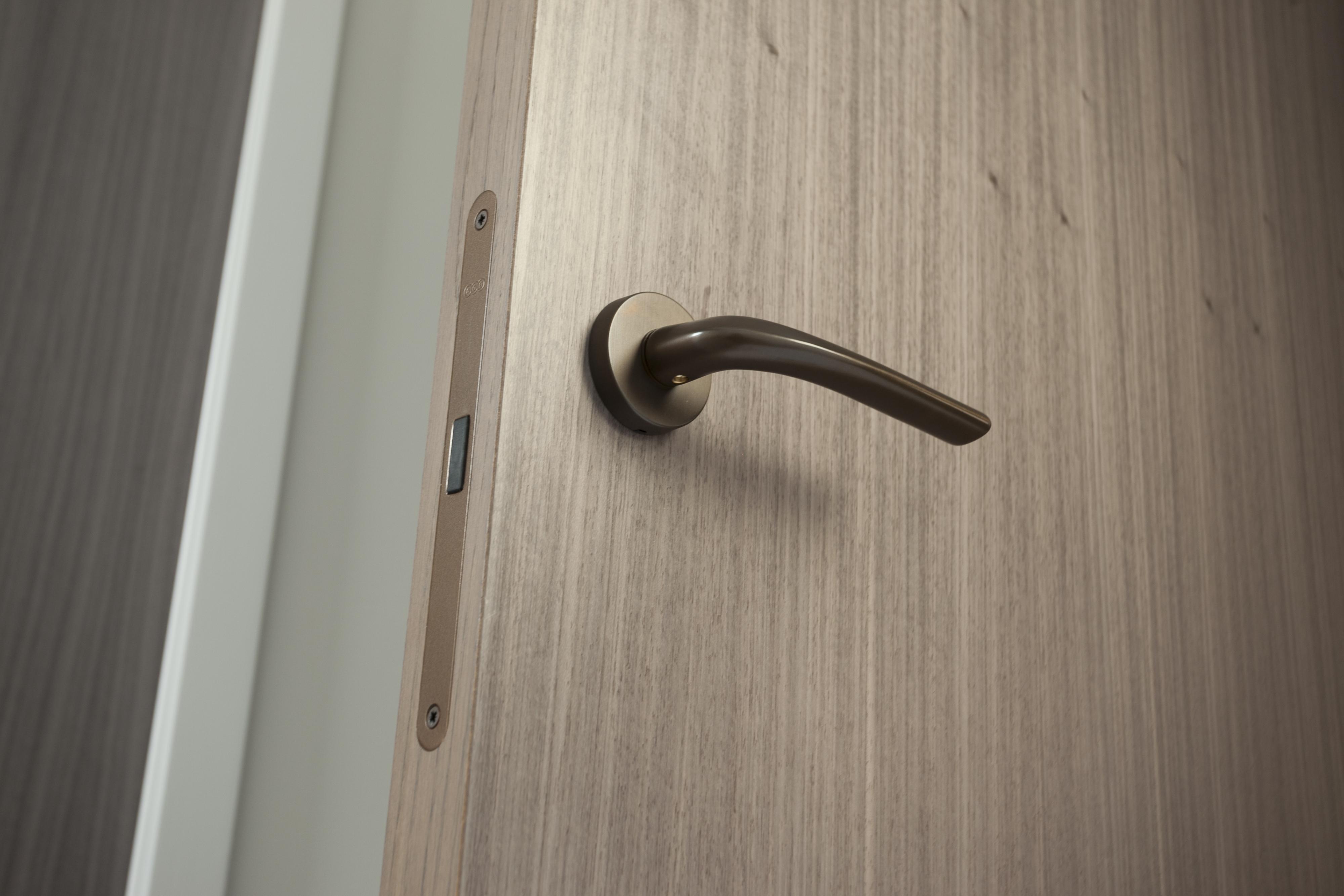 Stained Door with Integra Living Ironmongery